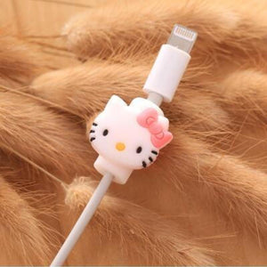 Fancy Cable Charger Protector Mobile Phone Accessories Loom Rack Kitty