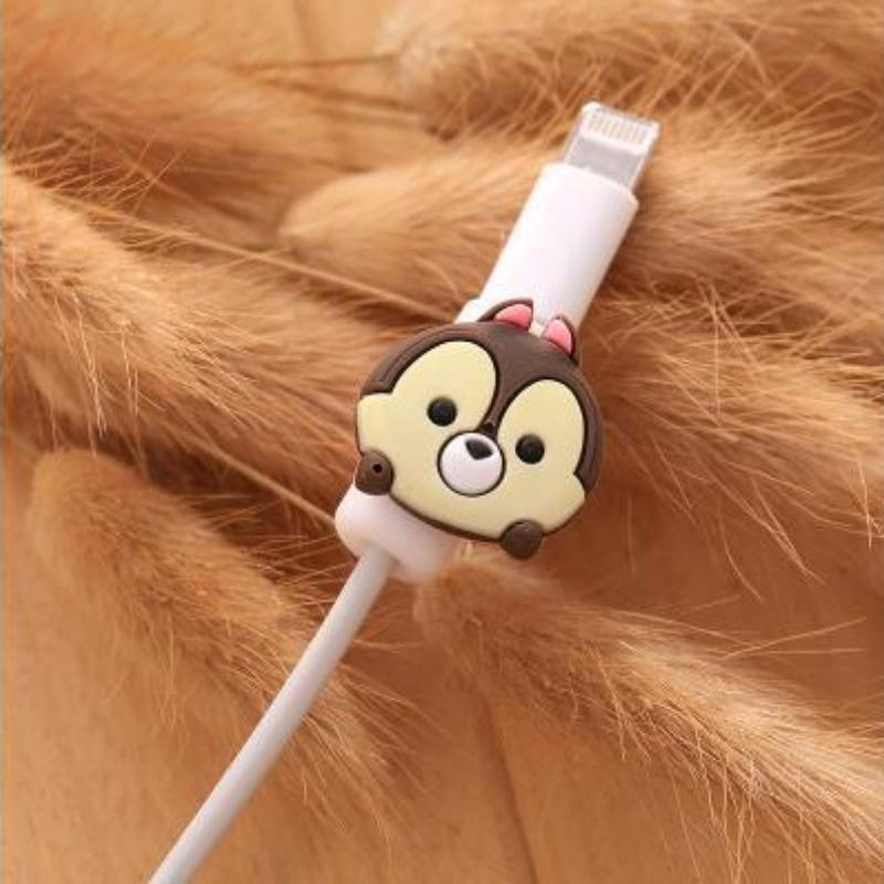 Fancy Cable Charger Protector Mobile Phone Accessories Loom Rack Little Ox - Brown