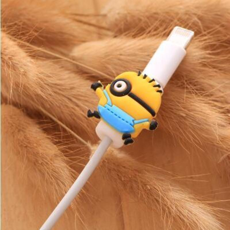 Fancy Cable Charger Protector Mobile Phone Accessories Loom Rack Minions