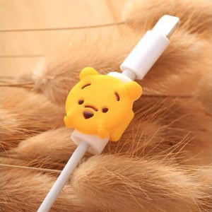 Fancy Cable Charger Protector Mobile Phone Accessories Loom Rack Poor Bear