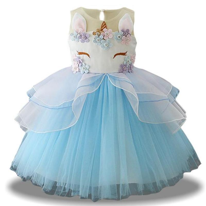 Fancy Unicorn Dress Dresses Loom Rack Blue 3T