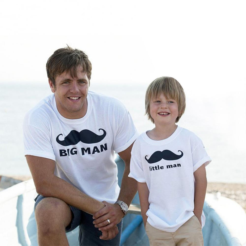 Father/Son Matching Tees Matching Outfits Loom Rack Big Man Mustache/Little Man Mustache Dad M