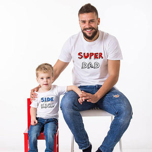 Father/Son Matching Tees Matching Outfits Loom Rack Super Dad/Side Kick Dad M