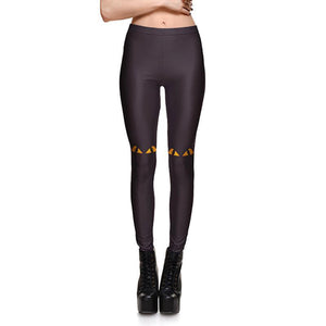 Fierce Black Cat Eye Leggings Leggings Loom Rack