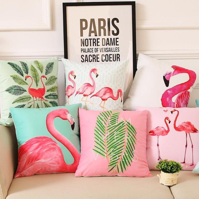 Flamingo Pillow Covers Cushion Cover Loom Rack