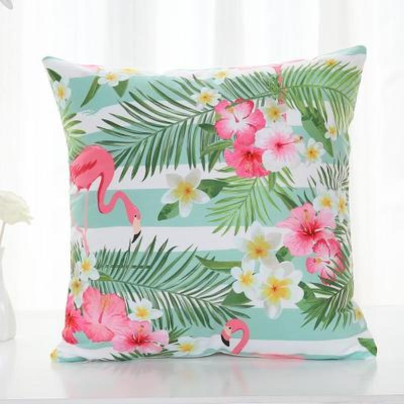 Flamingo Pillow Covers Cushion Cover Loom Rack B