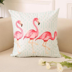 Flamingo Pillow Covers Cushion Cover Loom Rack E
