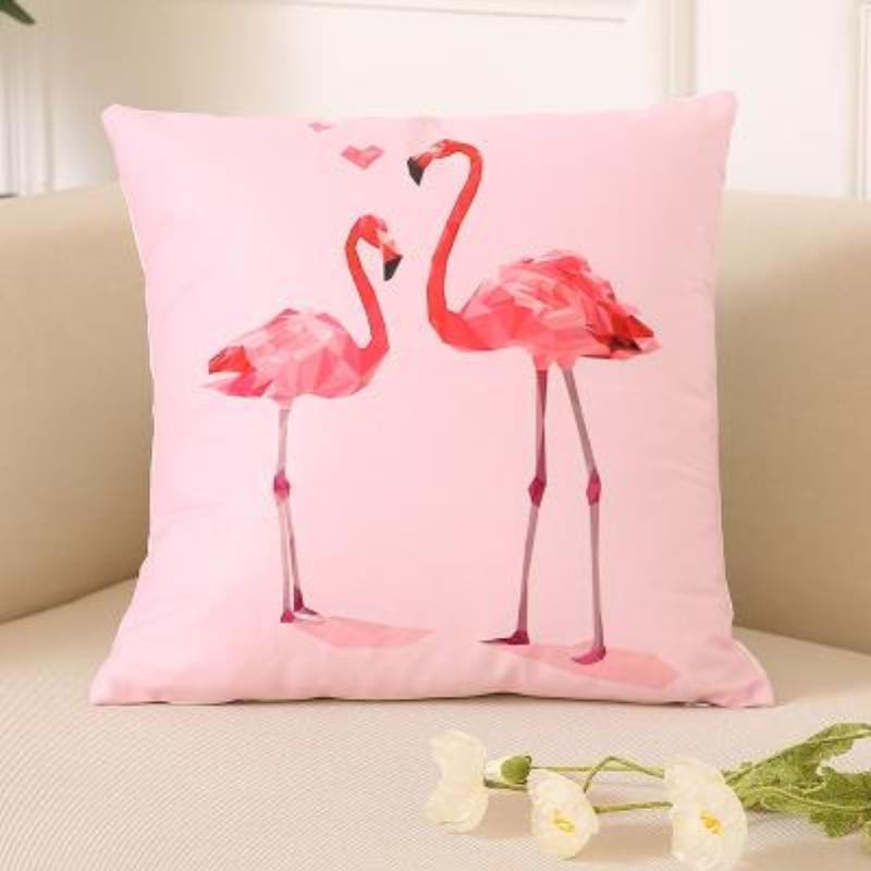 Flamingo Pillow Covers Cushion Cover Loom Rack F