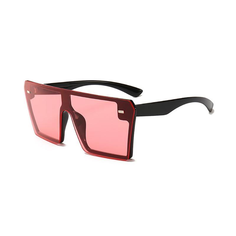 Flat Oversized Square Sunglasses Sunglasses Red