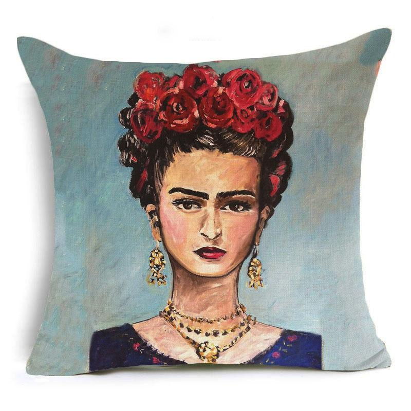 Frida Kahlo Cushion Cover Home Accessories Loom Rack 43X43CM Cushion Cover - 14