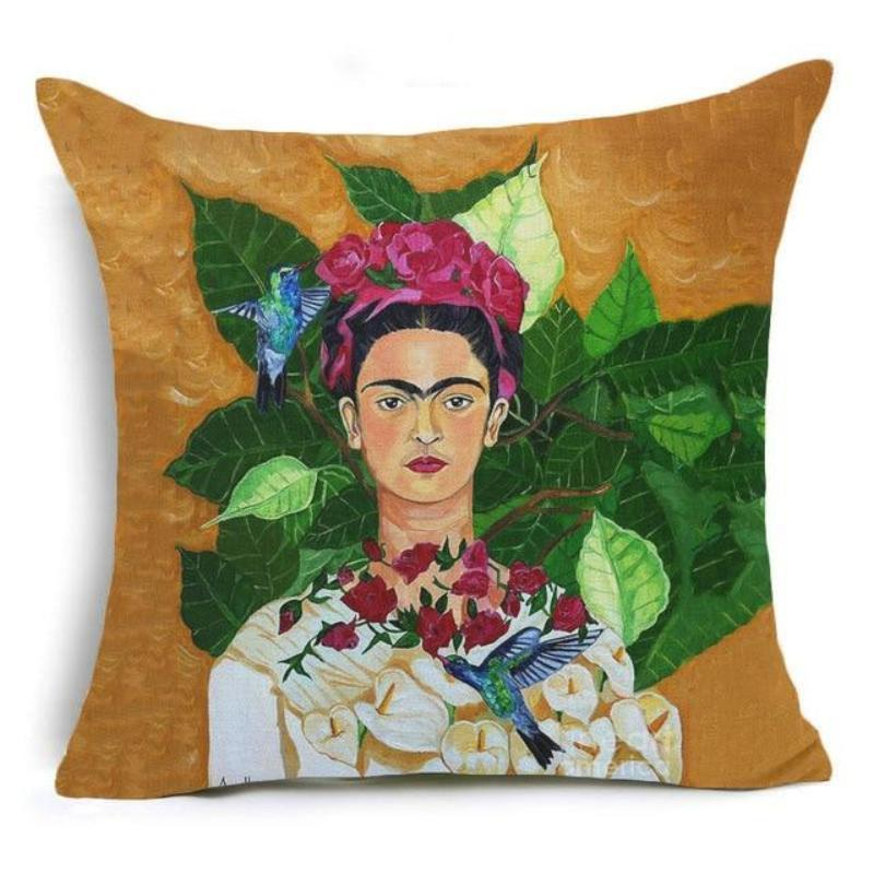 Frida Kahlo Cushion Cover Home Accessories Loom Rack 43X43CM Cushion Cover - 15