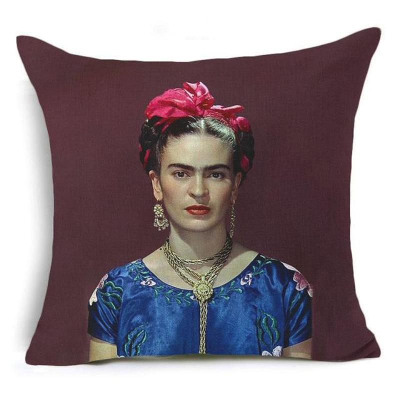 Frida Kahlo Cushion Cover Home Accessories Loom Rack 43X43CM Cushion Cover - 17