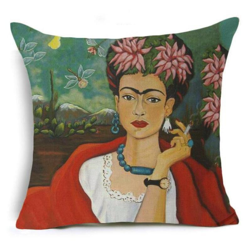 Frida Kahlo Cushion Cover Home Accessories Loom Rack 43X43CM Cushion Cover - 18