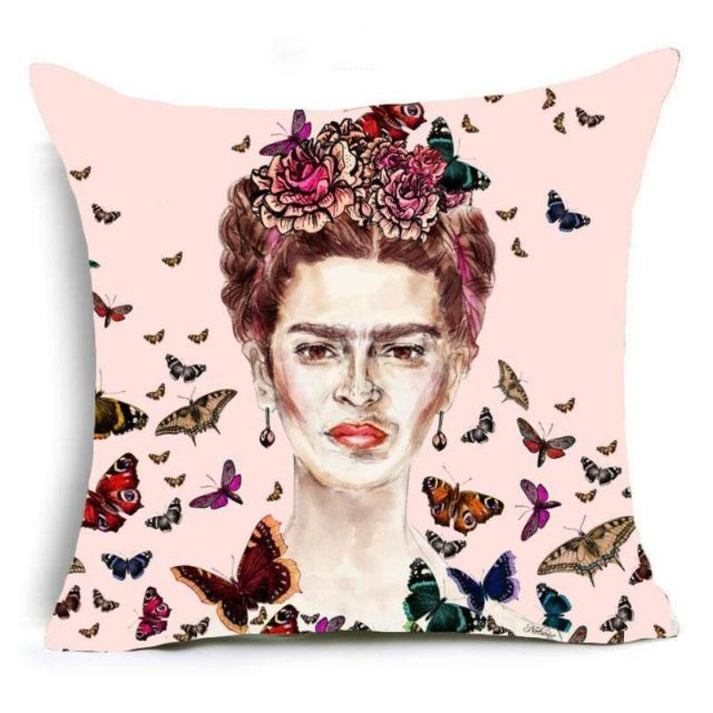 Frida Kahlo Cushion Cover Home Accessories Loom Rack 43X43CM Cushion Cover - 3