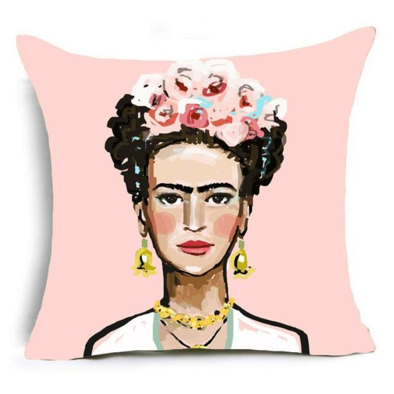 Frida Kahlo Cushion Cover Home Accessories Loom Rack 43X43CM Cushion Cover - 4