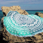 Funky Beach Mats and Sarongs - Assorted Styles Beach Mats Loom Rack Green