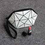 Geometric Foldable Makeup Bag Geometric Bags Loom Rack White