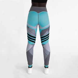 Geometric Leggings Leggings Loom Rack Blue S
