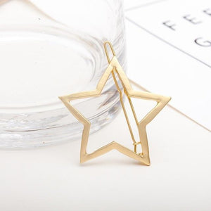 Geometric Metal Hair Pins Hair Accessories NO16star gold