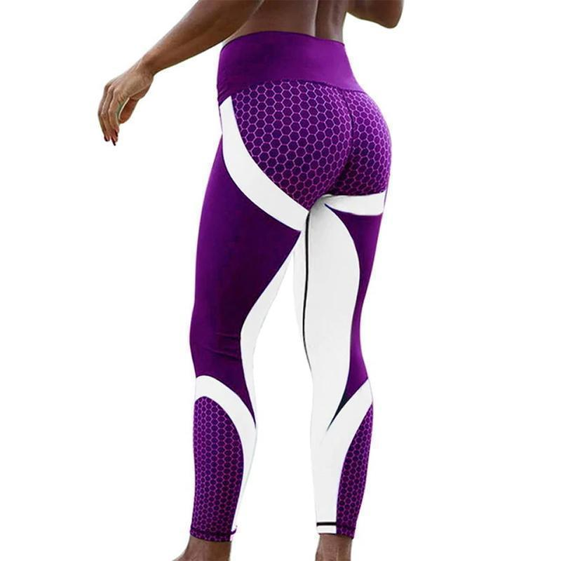 Geometric Pattern Leggings Leggings Loom Rack S Purple