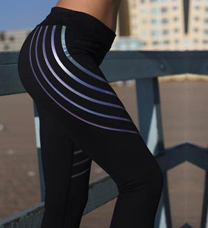 Glow in the Dark Multi-Reflective Compression Leggings Leggings Loom Rack