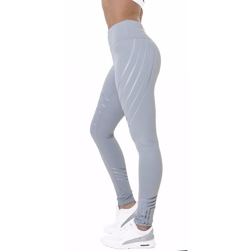 Glow in the Dark Multi-Reflective Compression Leggings Leggings Loom Rack Gray S