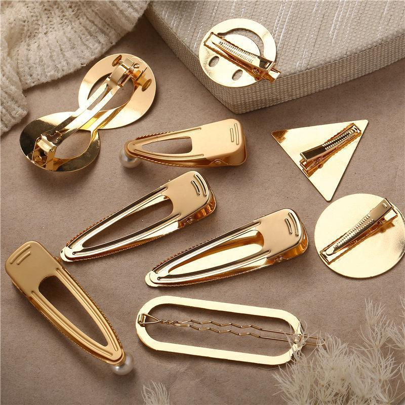 Gold Metal Hair Pins HairClips Loom Rack