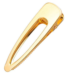 Gold Metal Hair Pins HairClips Loom Rack Oval Gold T4