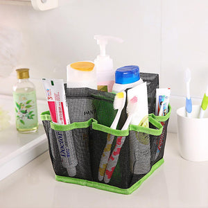 Hanging Mesh Toiletry Caddy Organizer Home Accessories Loom Rack Green