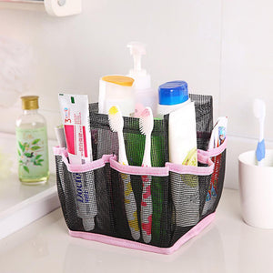 Hanging Mesh Toiletry Caddy Organizer Home Accessories Loom Rack Pink