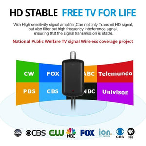 HDTV Antenna with Amplifier Signal Booster Indoor TV Accessories