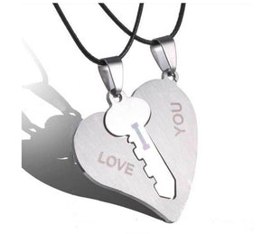 Heart & Key Stainless Steel Necklace Necklaces Loom Rack