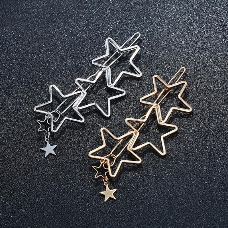 Hearts Stars Metal Hair Clips HairClips Loom Rack