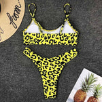 High Cut Push Up Leopard Bikinis Swimsuits 2019 Loom Rack