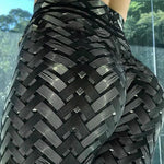 High Waist 3D Iron Armor Bionic Weave Print Leggings Leggings Loom Rack