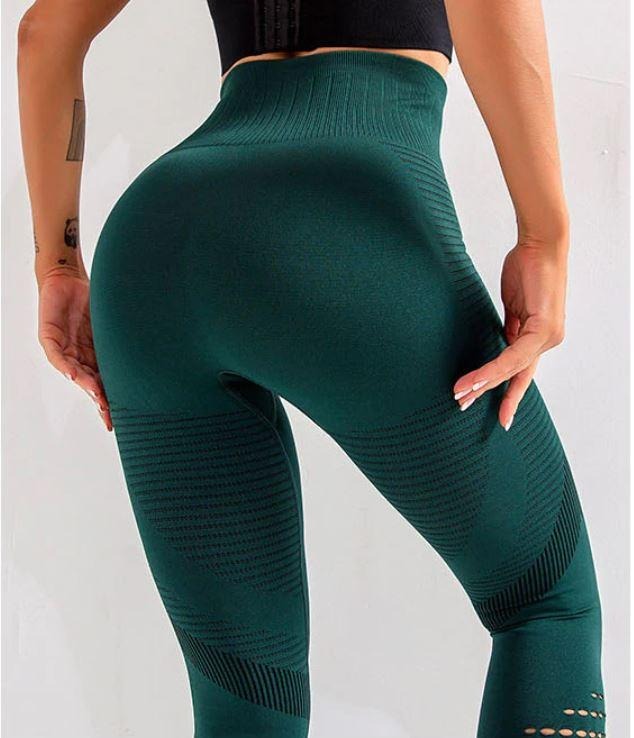 High Waist Seamless Leggings Leggings LoomRack XS Green