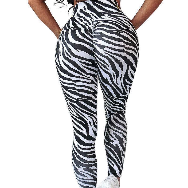 High Waist Zebra Leggings Leggings Loom Rack