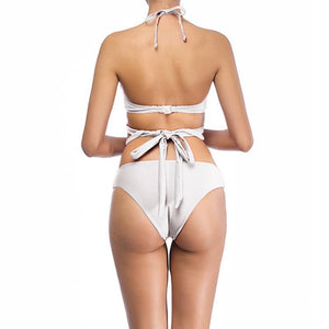 High Waisted Bandage Wrap Bikini Swimsuits 2019 Loom Rack