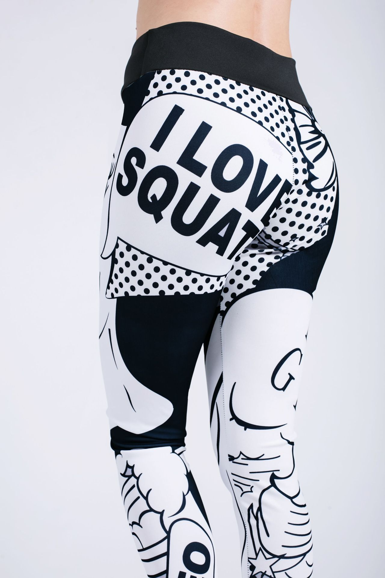 I Love Squats Pop Art Leggings Leggings Loom Rack
