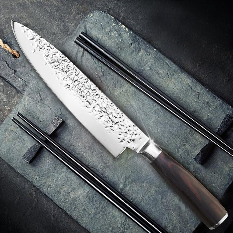 Ikasu Knife™ - Professional Japanese Ultra Sharp Kitchen Chef Knife Home Accessories Loom Rack