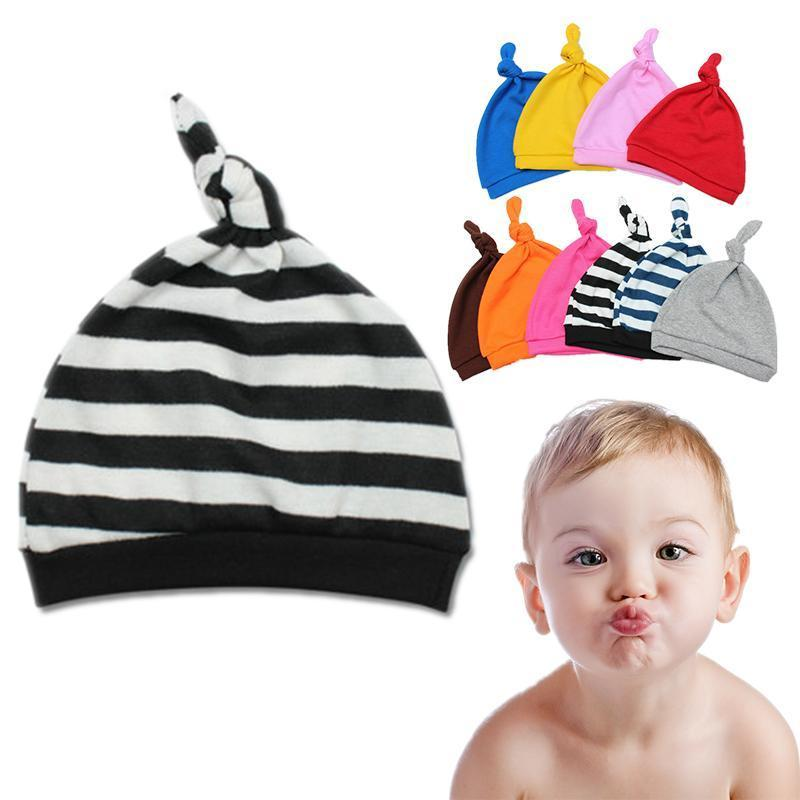 Infant Cotton Hats with Knot Tie Hats & Caps Loom Rack