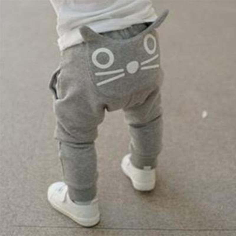 Infant Toddler Comfortable Harem Pants Pants Loom Rack Gray 10-12 months