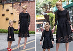 Just a Lady Lace Mommy & Me Dresses Matching Outfits Loom Rack BLACK Girl 3T