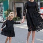 Just a Lady Lace Mommy & Me Dresses Matching Outfits Loom Rack BLACK Mom M