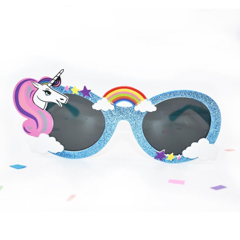 Kid's Unicorn Sunglasses Sunglasses Loom Rack Sky Blue