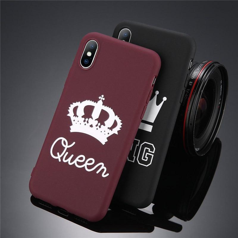 King Queen Crown iPhone Case - For iPhone X / XR/ XS Max / SE / 5C / 5S / 6 / 6 Plus / 6S / 7 / 8 Plus Phone Cases Loom Rack