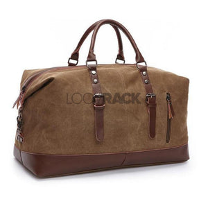 Large Canvas Duffle Bag Travel Accessories Loom Rack Coffee