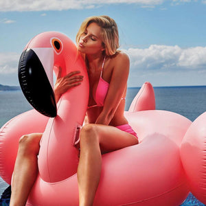 Large Flamingo, Peacock & Swan Pool Floats Swimming Rings Loom Rack Hot Pink Large Flamingo
