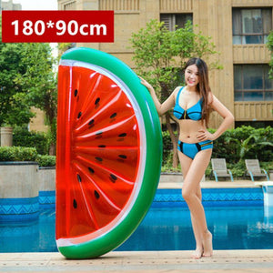 Large Fruit & Plant Floats Swimming Rings Loom Rack Half Watermelon