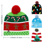 LED Christmas Hat Beanie Christmas Accessories Loom Rack